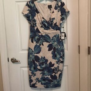 Floral Cocktail Dress by Adrianna Papell
